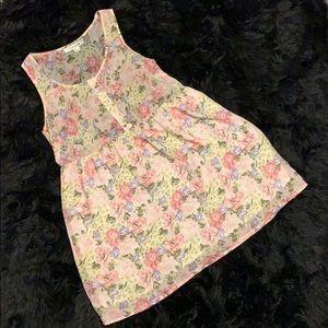 Forever 21 flowy floral short sleeve dress